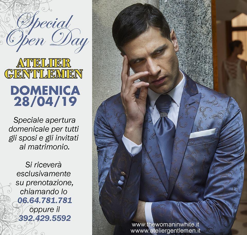 7af3033f2a6e L atelier Gentlemen comunica una apertura domenicale programmata per il  28 04 2019.